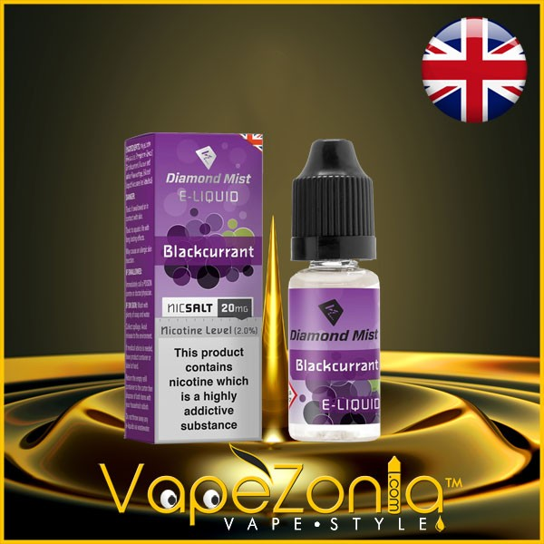 Diamond Mist Nic Salt BLACKCURRANT 20 Mg - 10 Ml