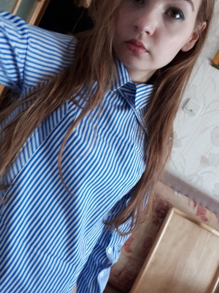 Elegant Button Striped Blouse Women Winter Blue Turn Down Collar Long Sleeve Shirt Vintage Womens Tops And Blouses Female photo review