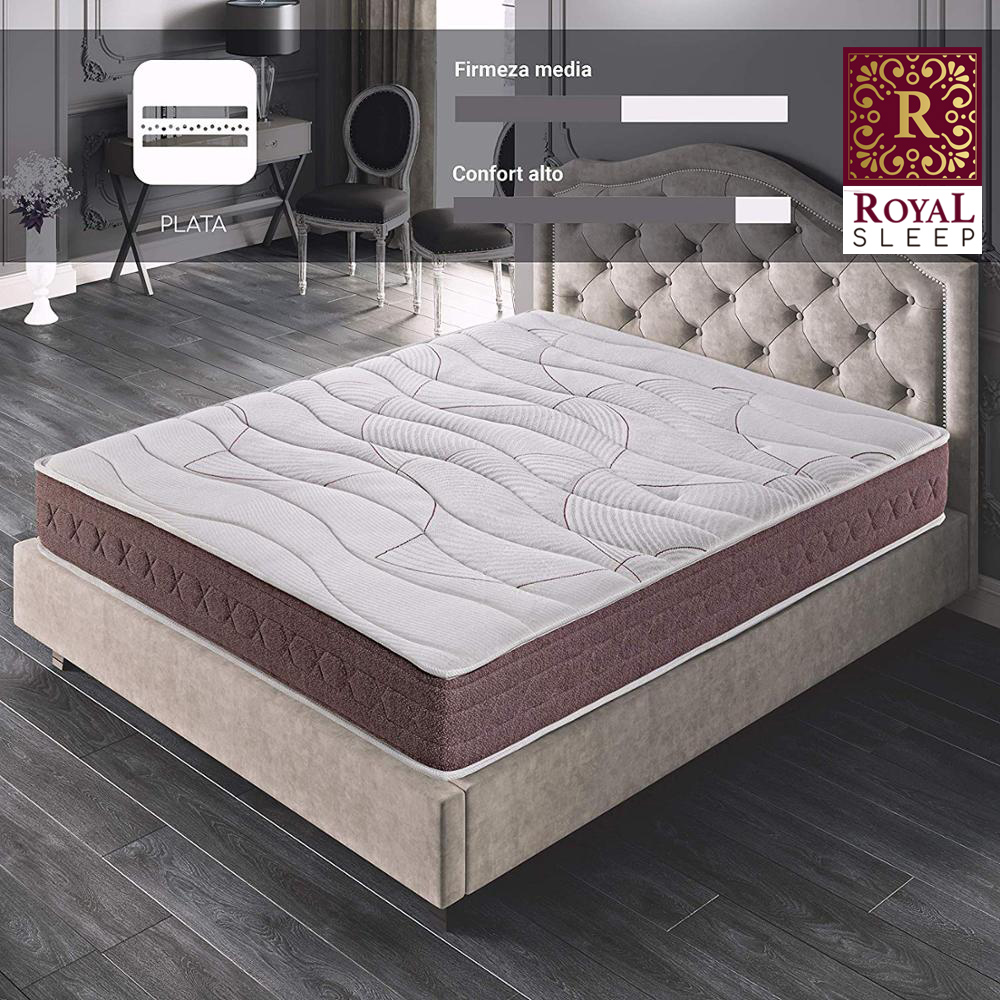 Royal Sleep Dormant Premium Mattress Visco Carbono 24 Cm High Regenerative Effect Firmly Half Adaptability Total Bed Ideal