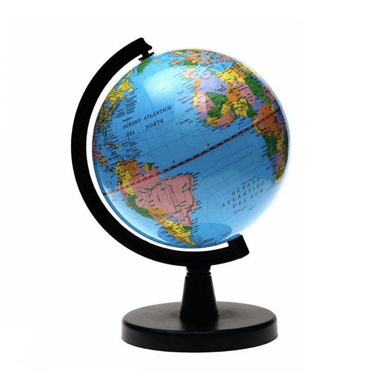 1ud Ball Globe With Swivel Bracket Toy Educational Geography Map Globe