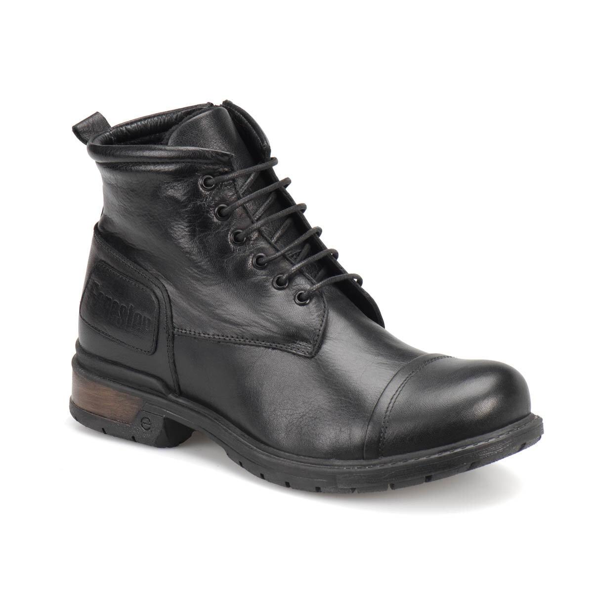 FLO 2008146 Black Men Boots Forester
