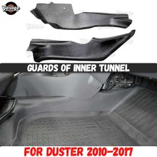 Guards of inner tunnel for Renault / Dacia Duster 2010 2017 ABS plastic accessories protect of center carpet car styling tuning