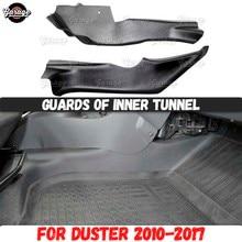 Защитные элементы внутреннего туннеля для Renault / Dacia Duster 2010 2017, аксессуары из АБС пластика для защиты центрального ковра, тюнинг автомобиля