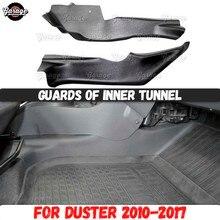 Strażnicy wewnętrznego tunelu dla Renault / Dacia Duster 2010 2017 plastikowe akcesoria ABS ochrona środkowego dywanu stylizacja samochodu tuning