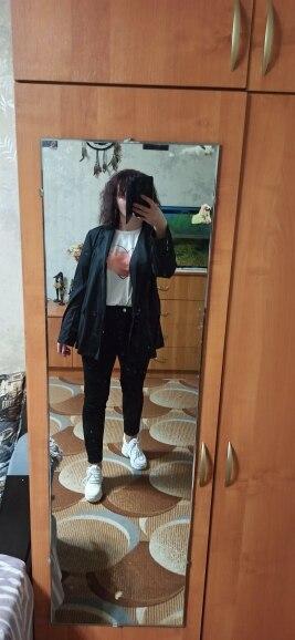 Fashion Jackets Women Coat Plus Size VONDA 2020 Spring Autumn Female Long Sleeve Lapel Black Blazer Elegant Work Blazer Feminina reviews №4 978146