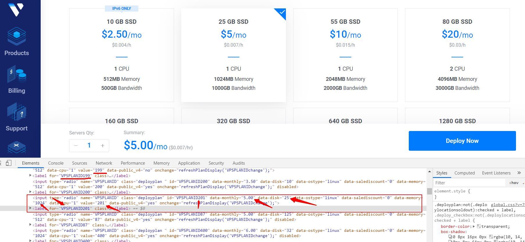 Vultr:2.5美元带IPv4的VPS套餐实例开通购买方法