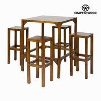 Yüksek masa 4 tabureler Franklin koleksiyonu tarafından Craftenwood -