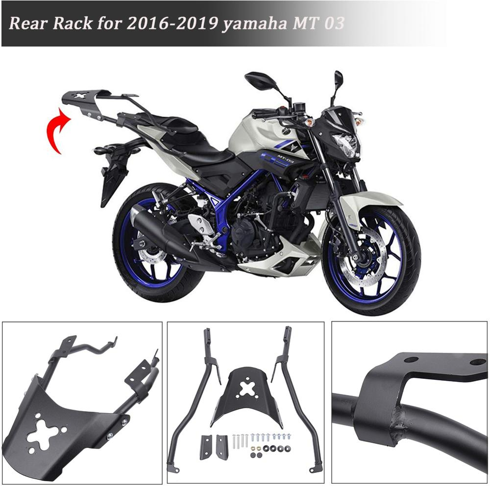 For Yamaha MT03 Top Rear Luggage Rack Carrier Luggage Rack Fender Support MT03 MT25 2019 <font><b>2018</b></font> 2017 2016 Motorcycle Accessories image