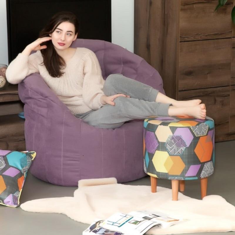 豆袋のソファ Delicatex Kioto mnogotsvetnyiy オットマンパッド入りスツールプーフ家具リビングルームの装飾