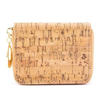 Natural cork zipper card small women wallet  BAGD-024 9