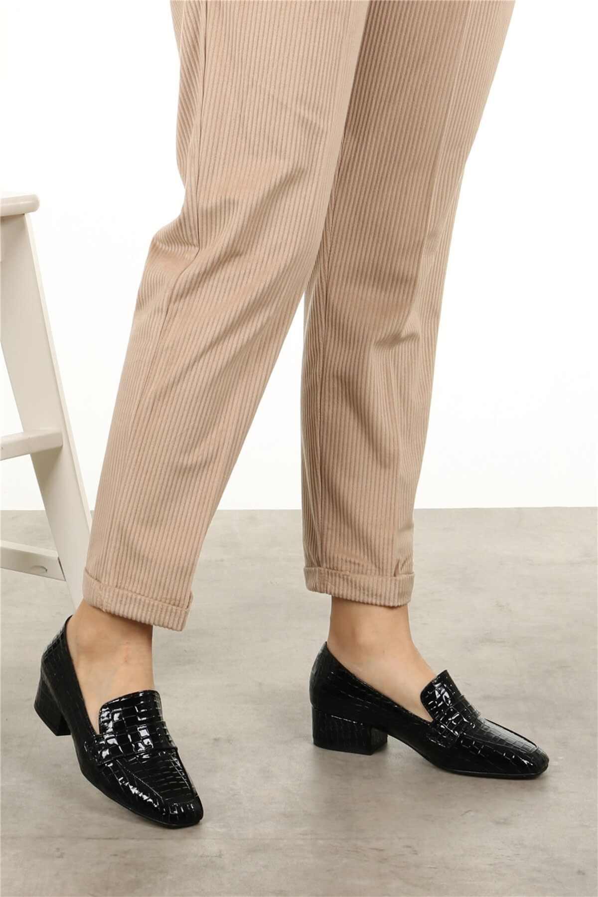 """Maddy Vân Cá Sấu Màu Đen Phong Cách Tân Hải Quân Bột Màu Xanh Giày Cao Gót Nữ Giày Nữ Mũi Nhọn Nữ Sexy Mùa Hè Giày Mujer """"Zapatos Mujer"""