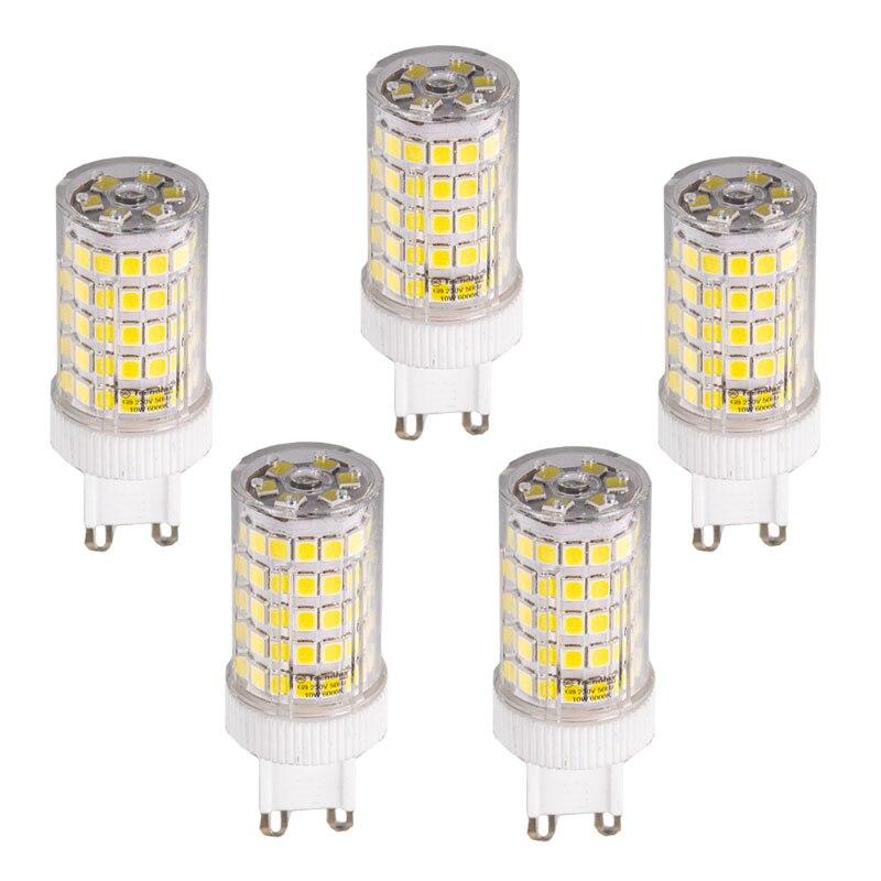 LED BOMBILLA G9 220V 6500K LUZ FRÍA 10 W {5 piezas}