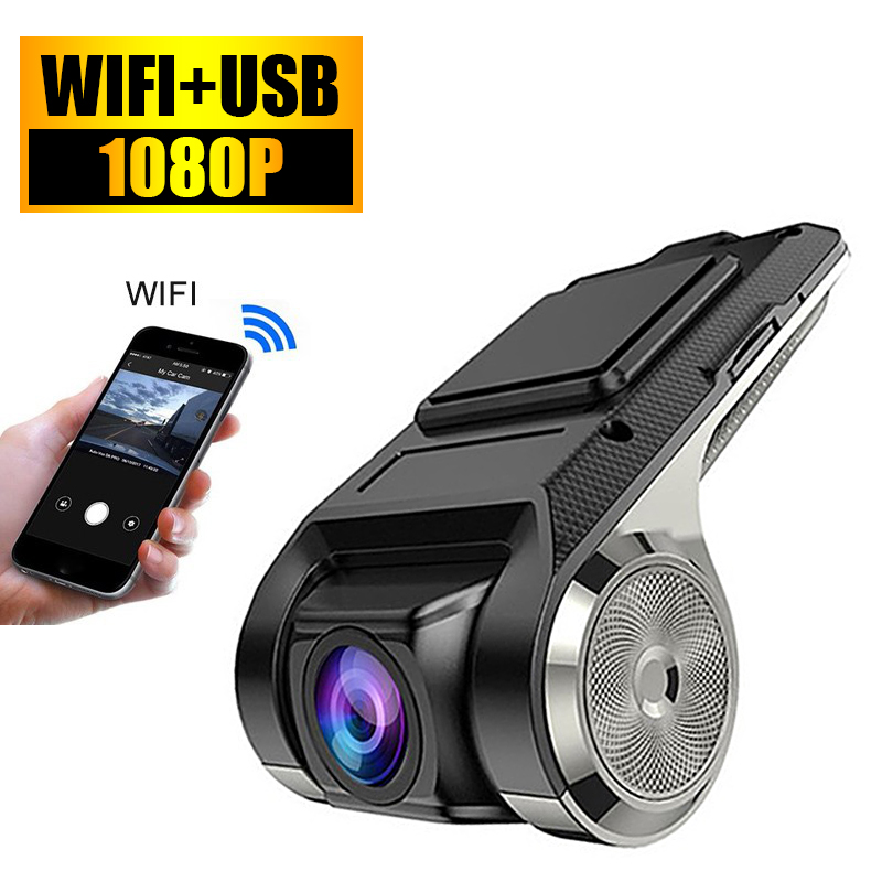 HD 1080P Car DVR Dash Video Recorder WIFE Android USB Camera Night Vision Loop Record G-sensor 170° Wide Angle Registrar Dashcam