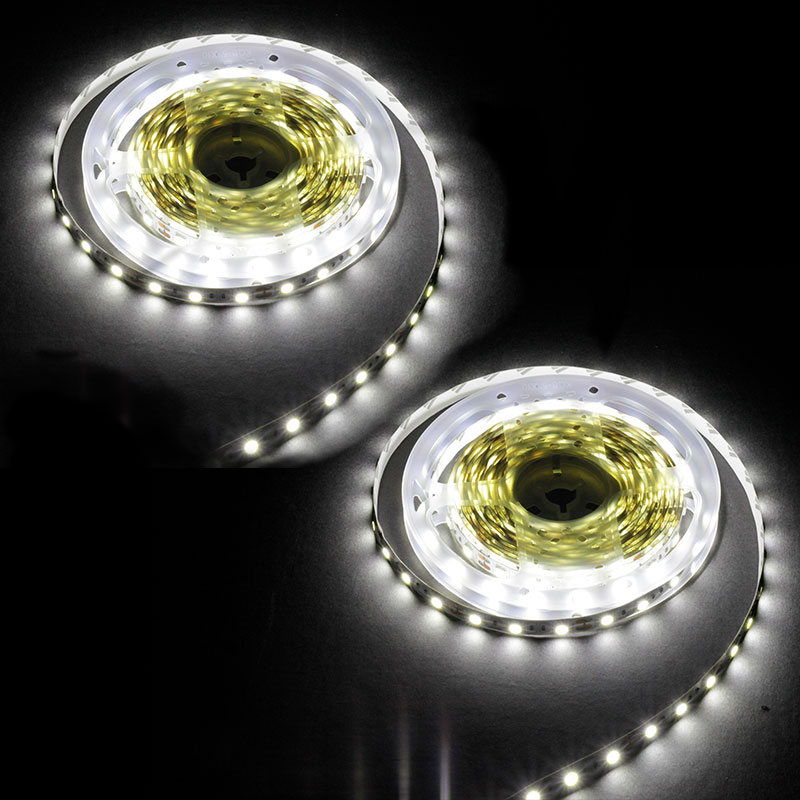 LE Tira LED, Cadena de Luces, 12V 5m 60 LED SMD 5050, 72W, 648LM,6000K Luz Frío No Impermeable {2 rollos} Luces LED de Navidad para exteriores sicsaee, 100 M, 20 M, 10 M, 5 M, Luces de decoración, Luces de hadas, Luces de vacaciones, guirnalda de árbol de iluminación