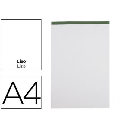 NOTEPAD LEADERPAPER SMOOTH A4 80 SHEETS 60G/M2 PERFORATED CAPLESS 5 Pcs