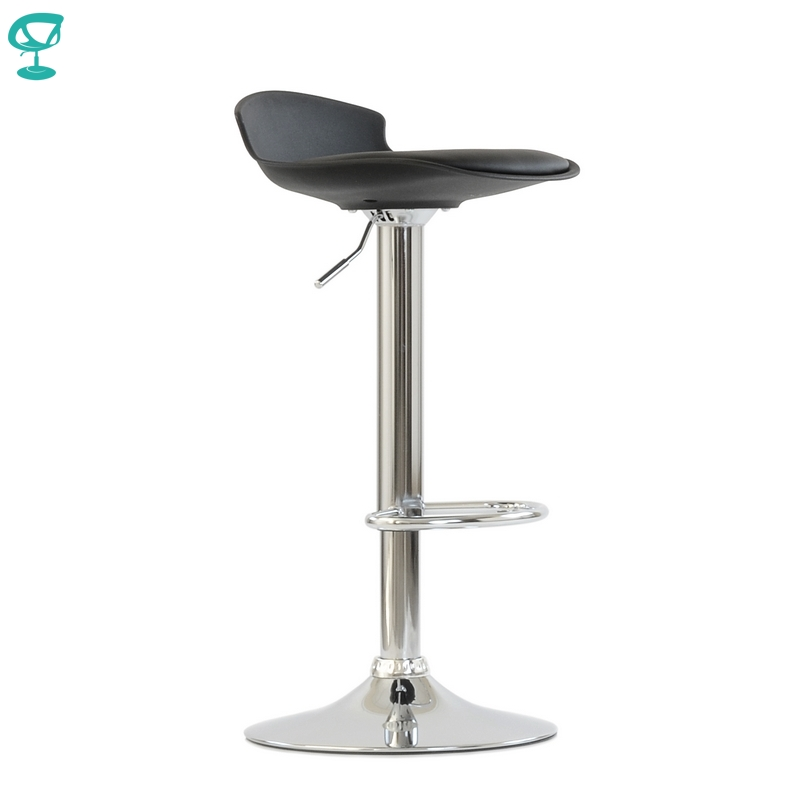 95632 Barneo N-264 High Plastic Kitchen Breakfast Bar Stool Swivel Bar Chair Black Color Free Shipping In Russia