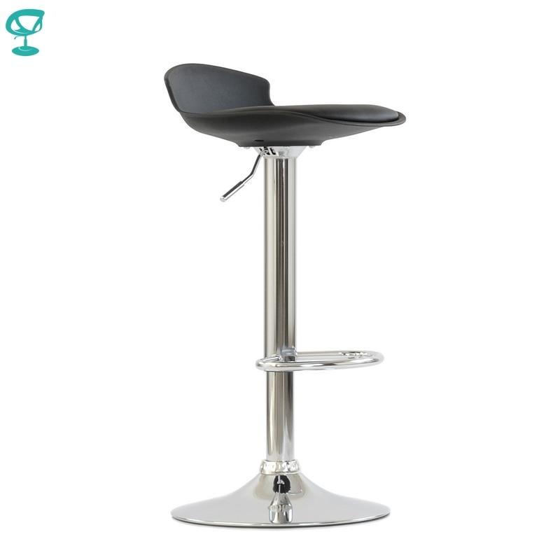 95632 Barneo N-264 High Plastic Kitchen Breakfast Bar Stool Swivel Bar Chair Black Color Free Shipping In Russia