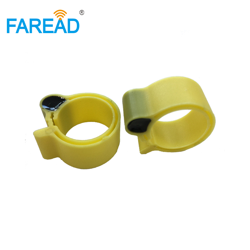 Free Shipping X100pcs RFID EM4305 Chip 134.2KHz Passive Foot Tag Ring For Chicken Duck ID Tagging
