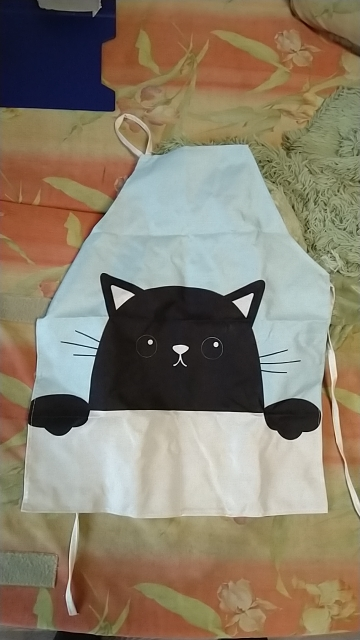 Funny Naughty Cat Kitchen Apron photo review