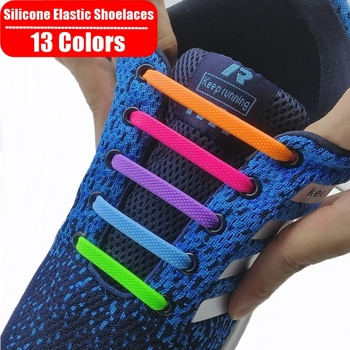 Bez krawata silikonowe elastyczne buty sznurowadła specjalne leniwe elastyczne buty sznurowadła dla mężczyzn kobiety sznurowanie dzieci trampki dla dorosłych sznurowadła 13 kolorów tanie i dobre opinie SOBU CN (pochodzenie) Stałe Silicone Elastic Shoelaces SZNUROWADŁA SLG01 white black gray deep blue red etc No Tie Shoelaces