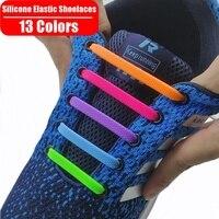 Cordones de zapato elástico de silicona para hombres y mujeres, zapato elástico especial para perezosos, cordones para zapatillas deportivas de 13 colores