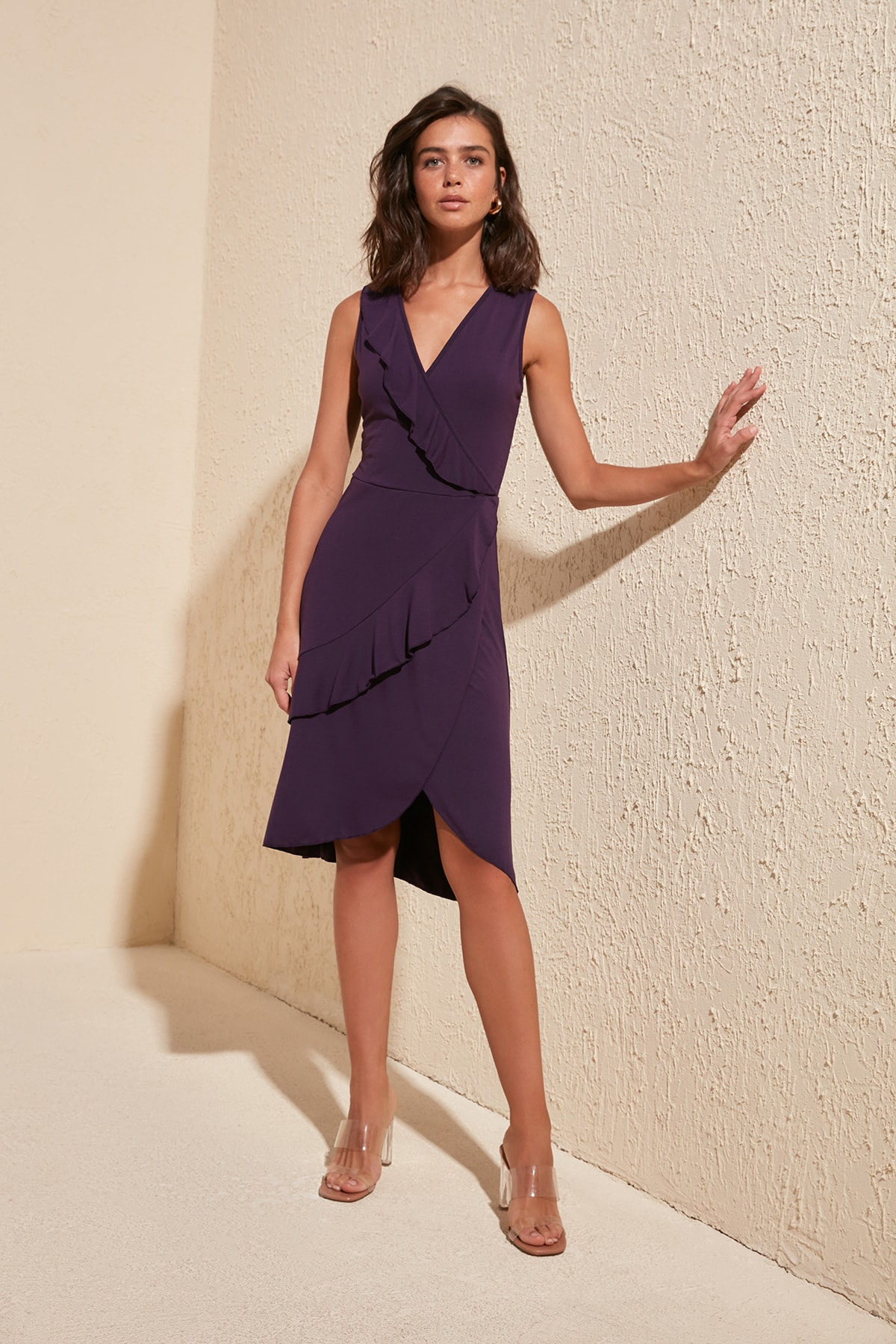 Trendyol Double Breasted Knitted Dress TWOSS20EL0711