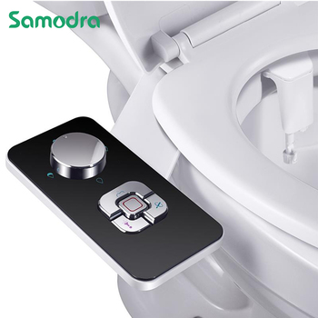 Bidet Toilet Seat Attachment Ultra-thin Non-electric Self-cleaning Dual Nozzles Frontal & Rear Wash Cold Water Personal Hygiene 1