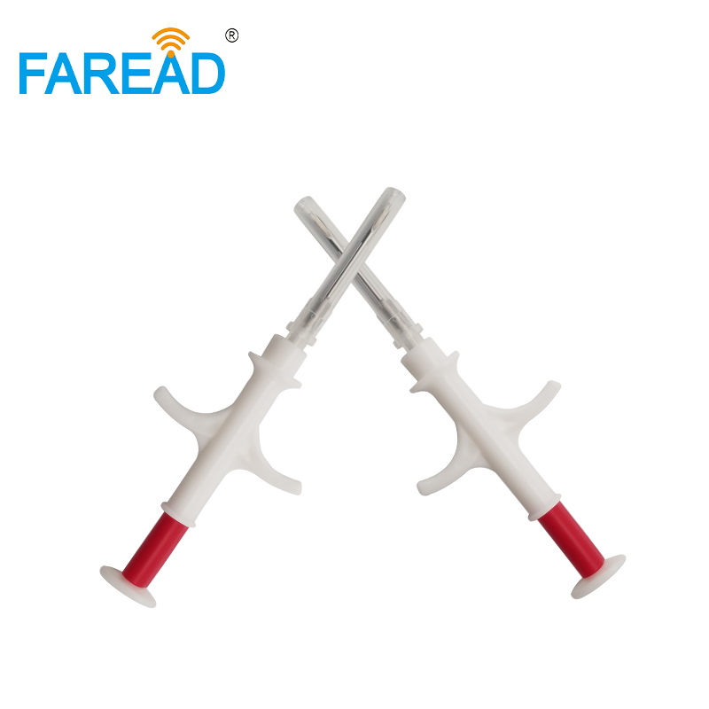 NFC ISO14443A Standard 13.56MHz Microchip Syringe  Implanted Chip 2.12x12mm With Chip RFID Glass Tag Transponder