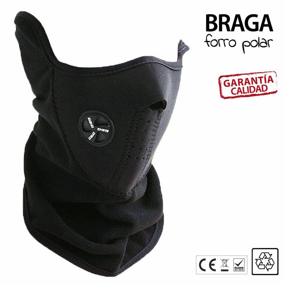 Enivo From Spain Braga Neck Neoprene Mask Balaclava Scarf Snow Motorcycle Bike Black Lining