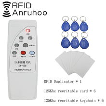Rfid cartão de controle acesso duplicador 125/250/375/500khz reprodutível etiqueta leitor t5577 em4305 cartão escritor handheld chave copiadora
