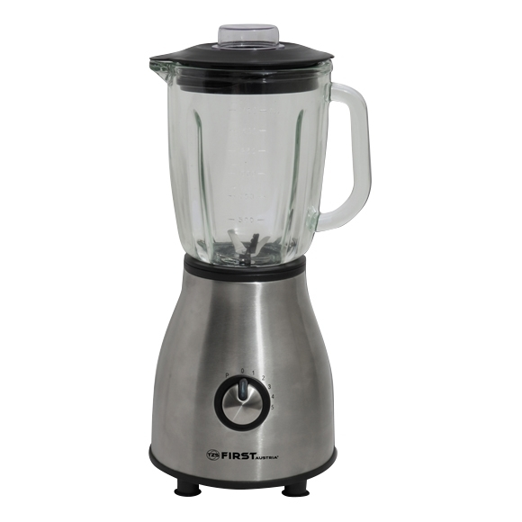Blender FIRST FA-5242-4 Stell (Gray. Power 1000 W. Bowl glass bowl Volume 1.75 l, adjustable speed rotation mixer ariete 1594 00 in 650 w 6 speed bowl 4 l stainless steel