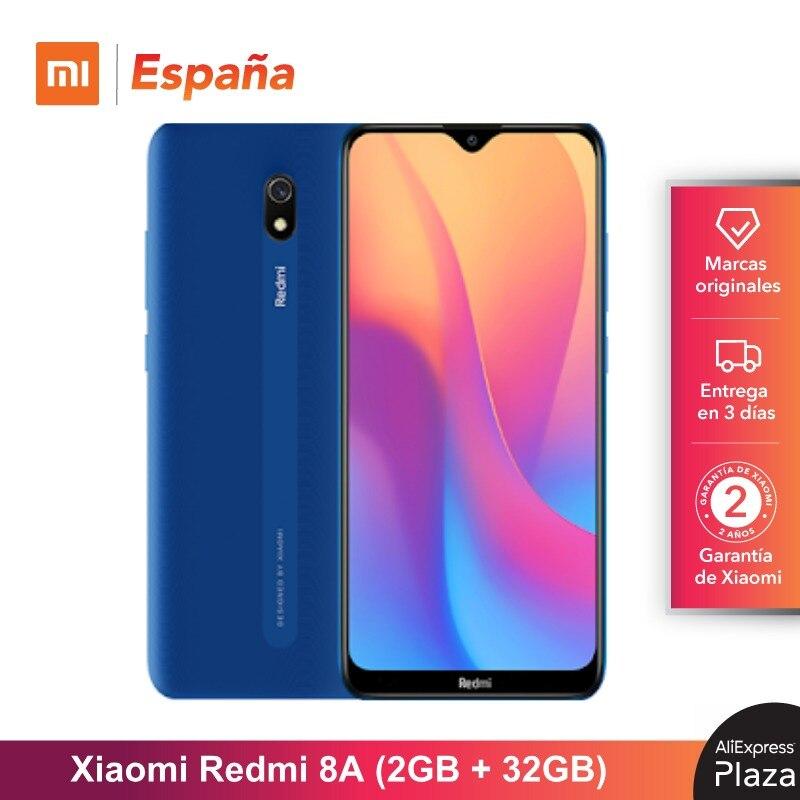 Xiaomi Redmi 8A (32GB ROM, 2GB RAM, Batería De 5000 MAh, Android, Nuevo, Libre) [Teléfono Movil Versión Global Para España] 8A