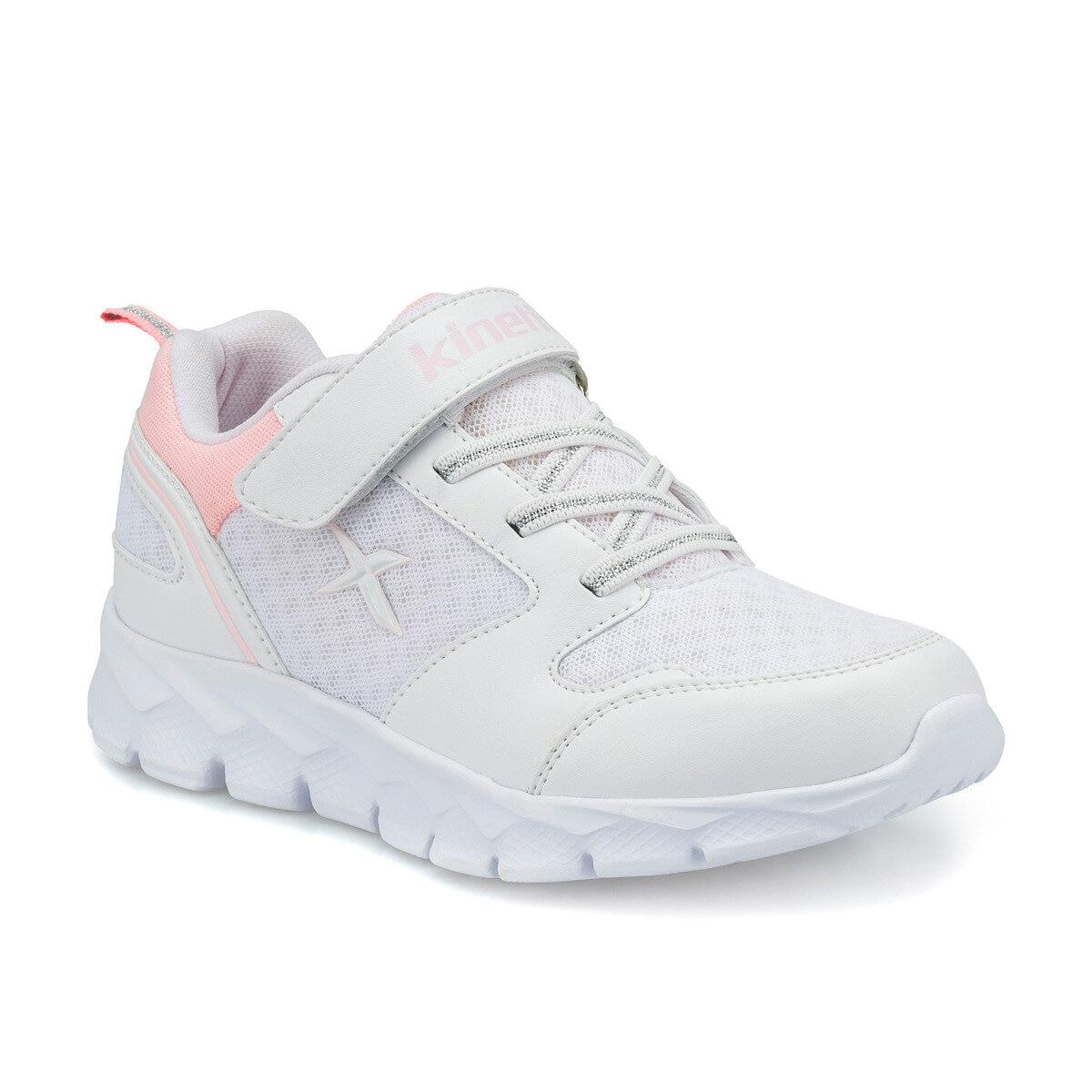 FLO OKA J MESH White Female Child Walking Shoes KINETIX