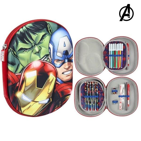 Triple Pencil Case The Avengers 78889