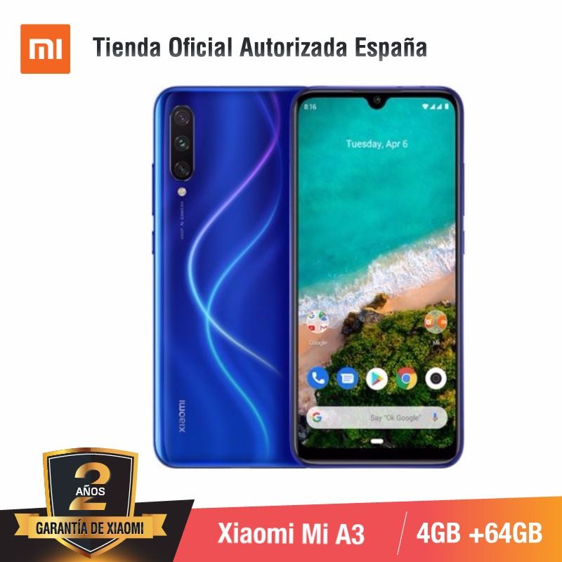 [Global Version For Spain] Xiaomi Redmi Mi A3 (Memoria Interna De 64GB, RAM De 4GB)