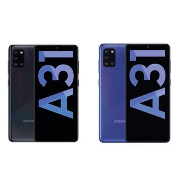 Перейти на Алиэкспресс и купить Samsung Galaxy A31-смартфон с сенсорным экраном 6,4 дюймSuper AMOLED, 4 Гб RAM, 64 ГБ и 128 ГБ, датчик отпечатков пальцев, черно-синий