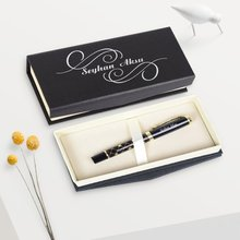 Personalized Vip 656-R Black-Gold Metal Roller Pen