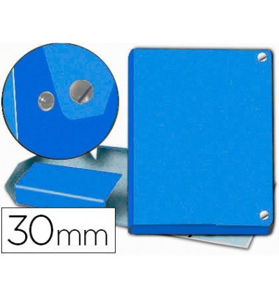 FOLDER PROJECTS BROWN FOLIO LOMO 30 MM CARTON LINED BLUE WITH BROOCH