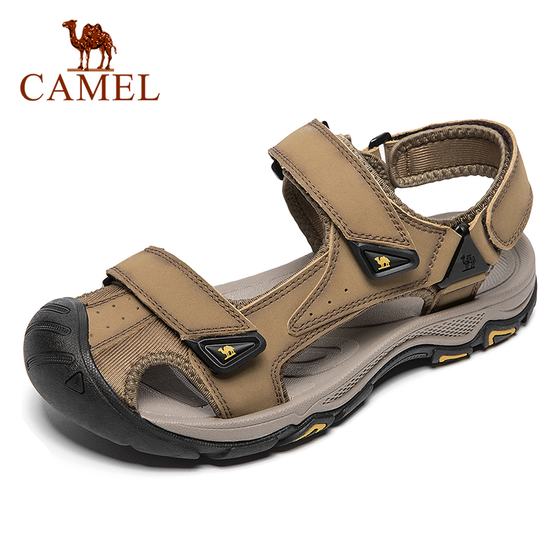 CAMEL Men's Summer Genuine Leather Men Shoes Fisherman  Comfort Cowhide Sports Shock Absorbing Beach Outdoor Sandal