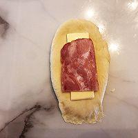 """#美食说出""""新年好""""#双倍芝士的培根葱香小面包的做法图解7"""