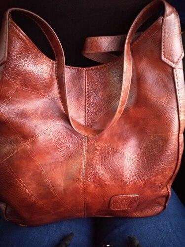 Women's Big Leather Handbag photo review