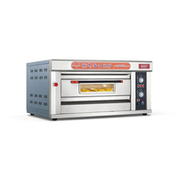 상업 피자 오븐 가격 스테인레스 스틸 2 층 피자 오븐 가스 피자 오븐