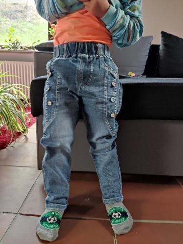 2020 Spring Fashion Boys Jeans Baby casual Color buckle Pants Kids Elasticity Jean Boy Trousers Autumn Children Denim 1-6Y photo review