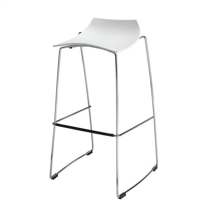 Stool AROSA, Plating, White Polypropylene