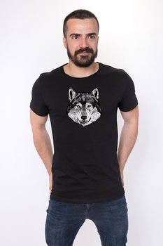 Angemiel Wear Lineal Dog Cotton Black Male T-Shirt image