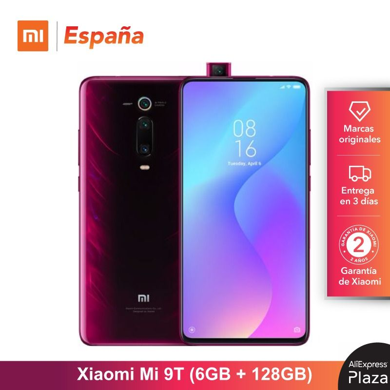 [Global Version For Spain] Xiaomi Mi 9T (Memoria Interna De 128GB, RAM De 6GB, Triple Cámara De 48 MP)