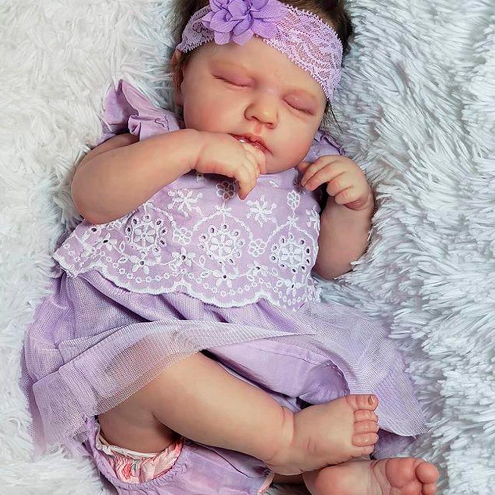 RBG 20 дюймов LouLou DIY пустой кукольный комплект перерожденные куклы Младенцы реалистичные куклы новорожденных Bebe винил Неокрашенный подарок-с...