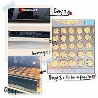 哄娃神器㊙️黑白芝麻蛋圆饼干 简单拌一拌的做法图解3