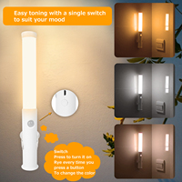 Pir Motion Sensor Led Light Draagbare Nachtkastje Emergency Night Lights Usb Oplaadbare Lampen Voor Keuken Trap Garderobe Kast