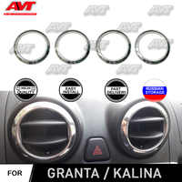 For Lada Granta 2012-2018 | Kalina 2004-2018 chrome cap on air deflectors stainless steel interior design decoration car styling